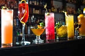 cocktail drinks menu drinks menu feast junction