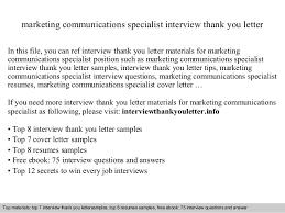 marketing communications specialist