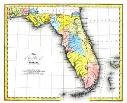 1820 Map Of United States by Map Of The State Of Florida 1832 Ad