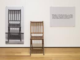 Floor Chairs Moma Joseph Kosuth One And Three Chairs 1965