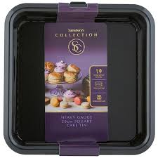 sainsburys kitchen collection sainsbury s collection black square cake tin 20cm sainsbury s
