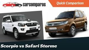 nissan micra vs tata tiago mahindra scorpio vs tata safari storme comparison
