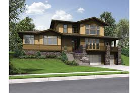 house plans for sloped lots eplans craftsman house plan delightful craftsman for uphill