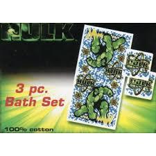 Marvel Bathroom Set Buy Marvel Hulk 3 Pc Bath Set Avengers Bath Towel And