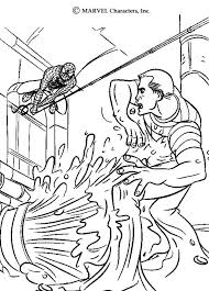 spiderman sandman coloring pages hellokids