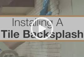 installing tile backsplash in kitchen how to install a kitchen backsplash at the home depot