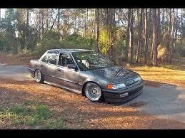 honda civic 90 stance clean and low 1990 civic sedan