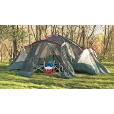 guide gear 3 room family dome tent with screened porch 100296