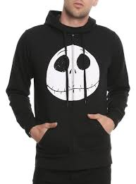 black zip hoodie from the nightmare before with s