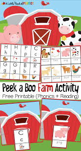 peek a boo farm animal activity and free printable