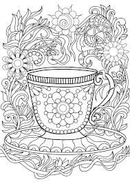 451 best coffee tea coloring pages for adults images on