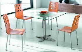 table de cuisine moderne en verre table de cuisine manger rallonges en m tal et verre table de