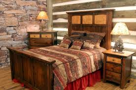magnificent country log cabin furniture including rustic wood bed