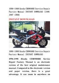 1996 1998 honda cbr900 rr service repair factory manual instant downl u2026