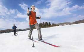 cozy log cabins cross country skiing and snowshoeing adventures