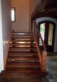Stairs With Open Risers by Rustic Staircase Design Artistic Stairs