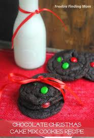 chocolate christmas cake mix cookies recipe