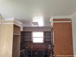 how to add molding to kitchen cabinets fisherman u0027s wife furniture covering fur down the space above