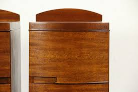 pair of art deco to midcentury modern 1940 vintage mahogany