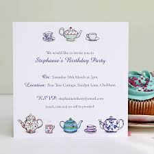 Tea Party Invitation Card Personalised Tea Party Invitations By Love Give Ink