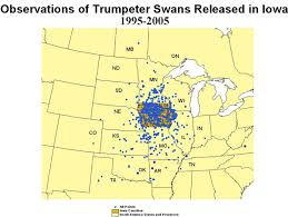 Iowa Counties Map Iowa Department Of Natural Resources Trumpeter Swan Society Blog