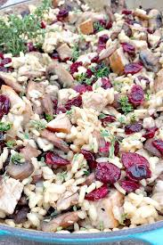 turkey cranberry risotto butter thanksgiving and