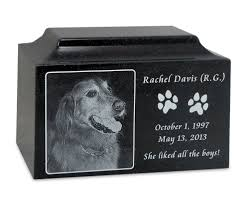 urns for pets granite large pet cremation urn with engraved photo