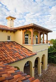 Barrel Tile Roof Multi Colored Barrel Tile Roof Exterior Mediterranean With Classic