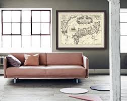 Map Home Decor Map Of Japan Etsy