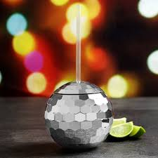 plastic disco ball cocktail cup sipper at drinkstuff