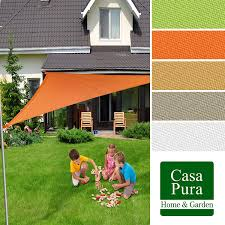 Canopy Triangle Sun Shade by Casa Pura Garden Shade Waterproof Sun Sail Canopy Triangle 3 6