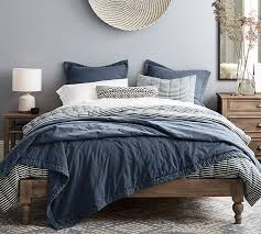 astoria turned leg platform bed pottery barn