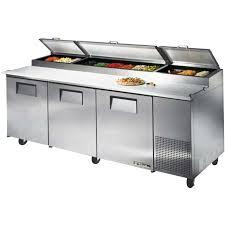 commercial pizza prep tables true tpp 93 93 pizza prep table prima supply