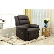 Faux Leather Recliner Adba Oversize And Overstuffed Single Seat Faux Leather Recliner