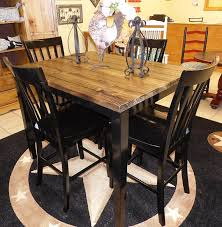 high top pub table set farm house pub table with four chairs repurposed table set rustic