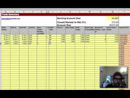 Options Trading Journal Spreadsheet by How To Record Trades A Trading Journal