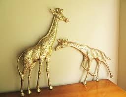 vintage giraffe ring holder images Vintage brass giraffes giraffe figurine solid brass figurine jpg