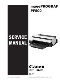 canon ipf610 service manual printer computing signal