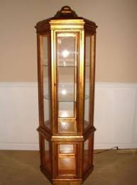 Antique Curio Cabinet With Clock Ridgeway Grandfather Clock Model 141 W Moon Dial In Burl Walnut
