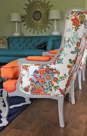 Linen Wingback Chair Design Ideas Vintage Wingback Chairs Like The Painted Wood And Contrasting
