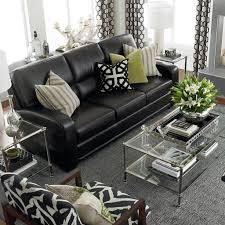 living room design with black leather sofa best 25 black leather