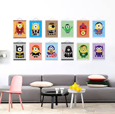 Wall Decor Canvas 2017 Mild Art Anime Game Minions American Hero Set Custom Diy Cute