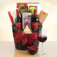 christmas wine gift baskets napa valley christmas charm wine gift basket california delicious