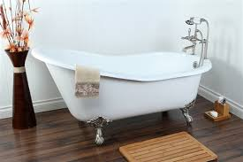 kingston brass 61 cast iron slipper tub all in one