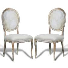 furniture chairs french country cane round back chairs pair 23