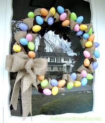 Easter Egg Decorating At Home by Diy Home Decor Easy Grapevine And Burlap Easter Egg Wreath