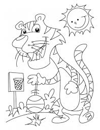 tiger volleyball champion coloring pages download free tiger