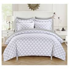 home design bedding finlay geometric printed reversible duvet cover set chic