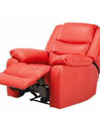 magnificent red leather reclining chair with red leather recliner