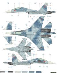 sukhoi su 27ub flanker c russian af camouflage color profile and